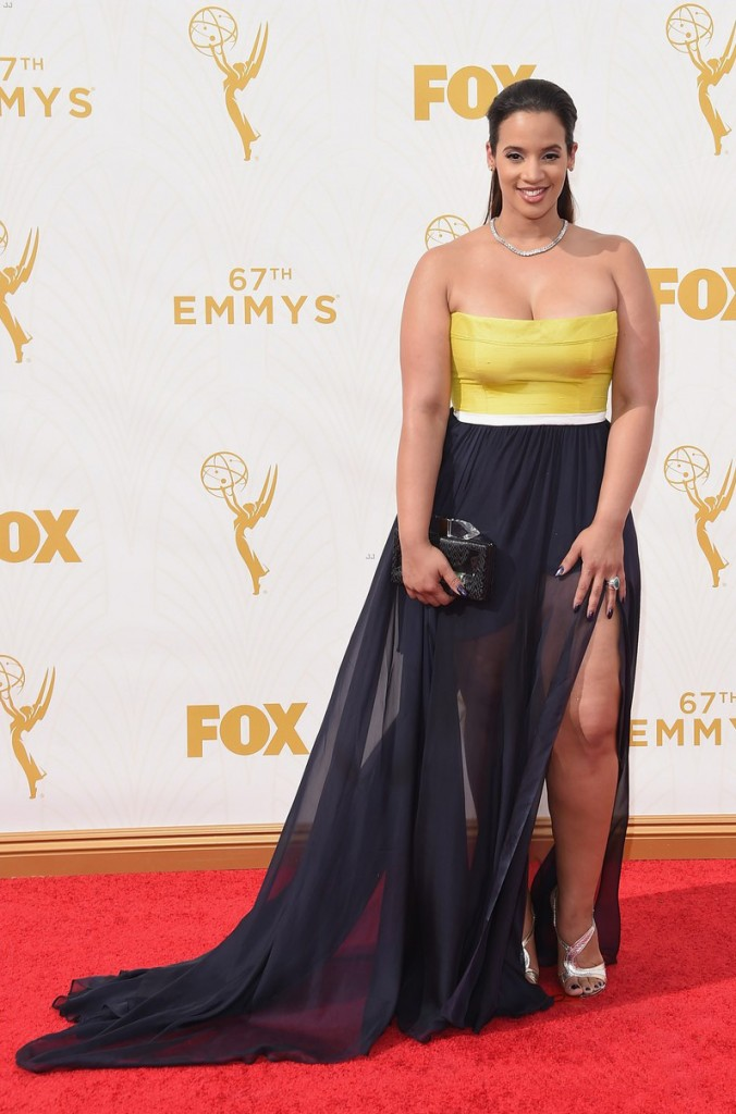 LOS ANGELES, CA - SEPTEMBER 20: Actress Dascha Polanco attends the 67th Annual Primetime Emmy Awards at Microsoft Theater on September 20, 2015 in Los Angeles, California.  (Photo by Jason Merritt/Getty Images)
