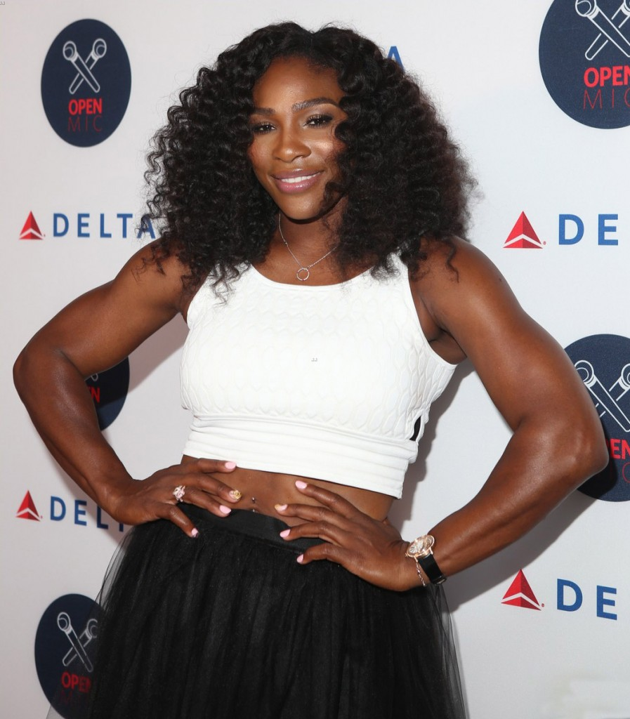 2nd Annual Delta Open Mic at Arena - Arrivals Featuring: Serena Williams Where: New York, New York, United States When: 26 Aug 2015 Credit: Derrick Salters/WENN.com