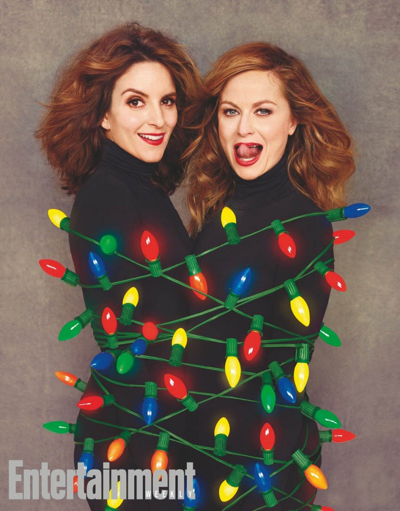 Tina Fey and Amy Poehler photographed for Entertainment Weekly Magazine on September 9th, 2015 in Los Angeles, California by Ruven Afanador. Styling: Cristina Ehrlich/TheOnly.Agency Fey Hair: Richard Marin/Cloutier Remix/Rossano Ferretti Hair Spa Fey Makeup: Mai Quynh/Starworks Group Poehler Hair: Lona Vigi/Starworks Group Poehler Makeup: Nick Barose/The Wall Group Prop Styling: Charlotte Malmlof Manicure: Yoko Sakakura/nailsbyyoko/TheOnly.Agency Fey Dress: Oscar De La Renta; Earrings: Melinda Maria Poehler Dress: Victoria by Victoria Beckham, Earrings: Melina Maria