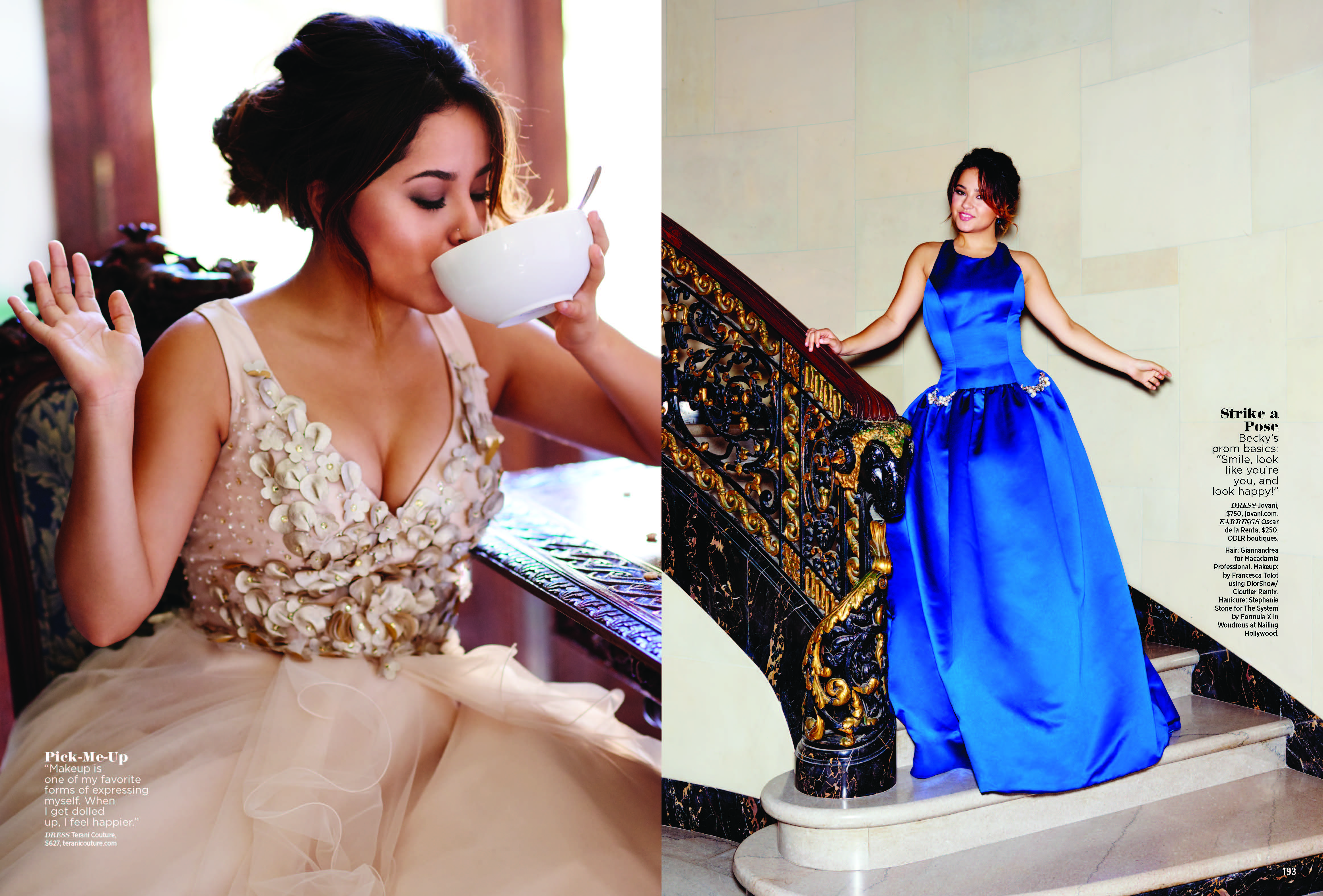 becky g tries on prom dresses for seventeen cloutier remix