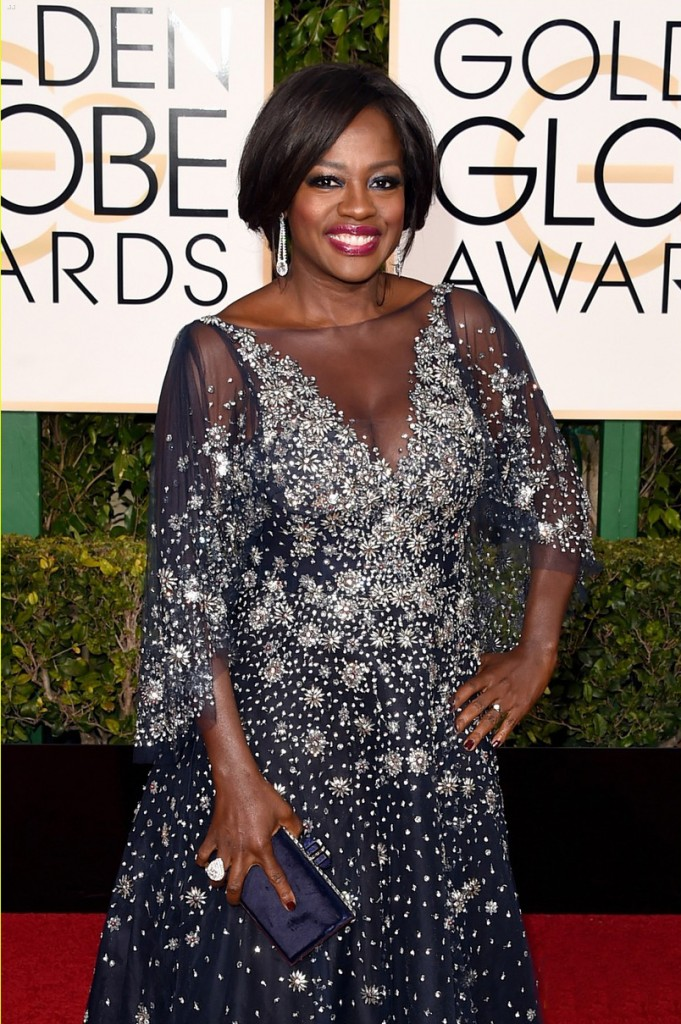 BEVERLY HILLS, CA - JANUARY 10: Actress Viola Davis attends the 73rd Annual Golden Globe Awards held at the Beverly Hilton Hotel on January 10, 2016 in Beverly Hills, California. (Photo by Jason Merritt/Getty Images)