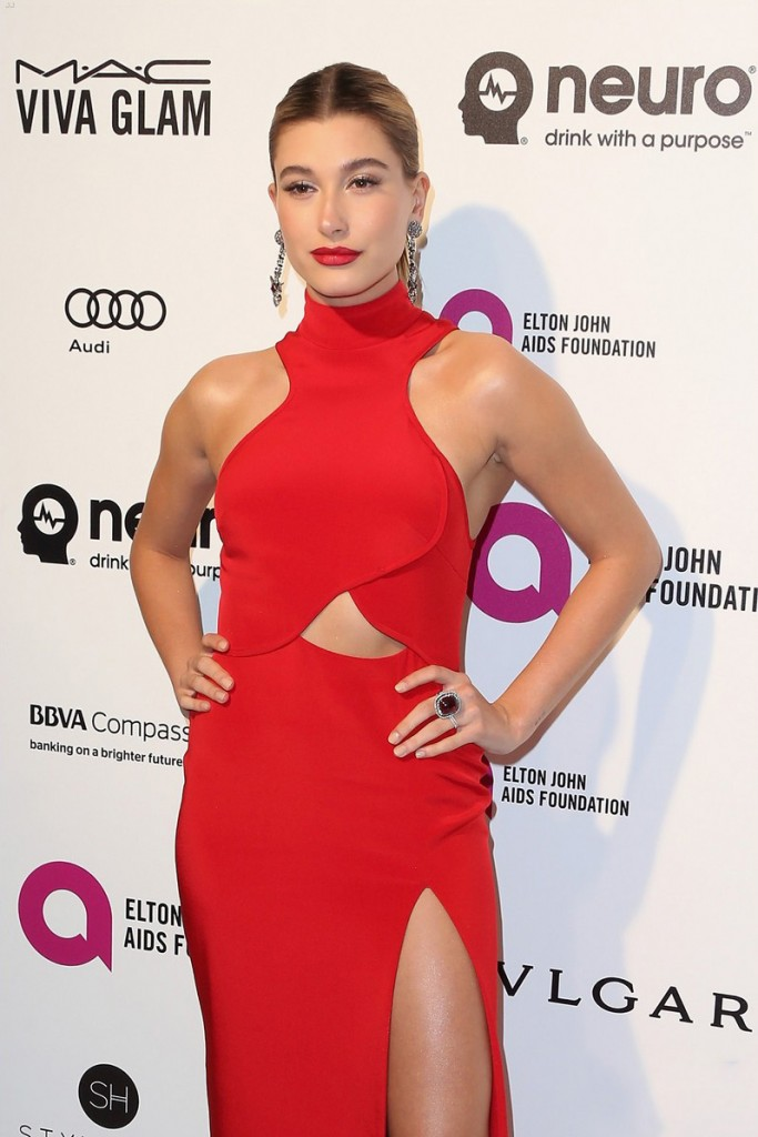 WEST HOLLYWOOD, CA - FEBRUARY 28:  Model Hailey Rhode Baldwin attends the 24th Annual Elton John AIDS Foundation's Oscar Viewing Party on February 28, 2016 in West Hollywood, California.  (Photo by Frederick M. Brown/Getty Images)