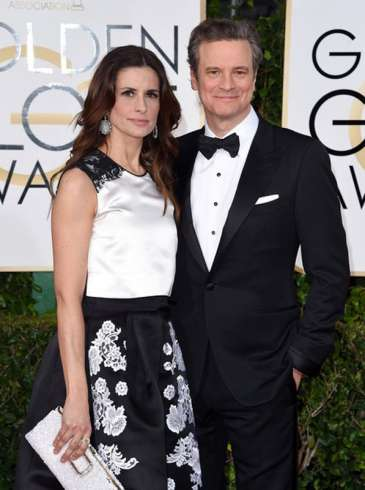 2015 Golden Globes - Colin Firth -Livia-Firth  5