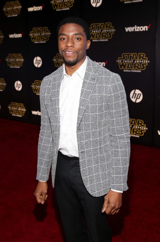 Chadwick Boseman - Star Wars premiere (4)