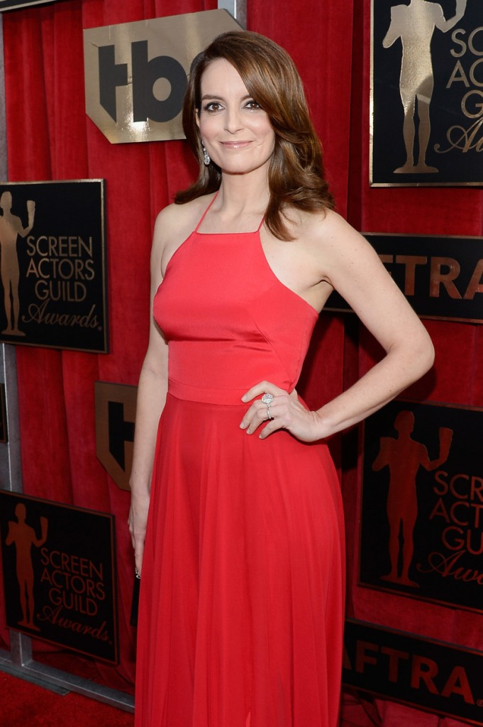 LOS ANGELES, CA - JANUARY 30: Actress Tina Fey attends the 22nd Annual Screen Actors Guild Awards at The Shrine Auditorium on January 30, 2016 in Los Angeles, California. (Photo by Kevork Djansezian/Getty Images)