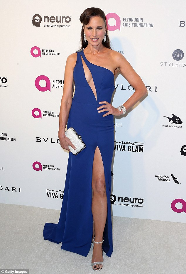 Andie MacDowell - 2016 Elton John AIDS Foundation party (1)